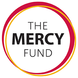 circle of red and gold saying The Mercy Fund